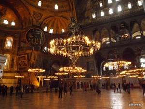 Inside Hagia sofia mosque,Istanbul
